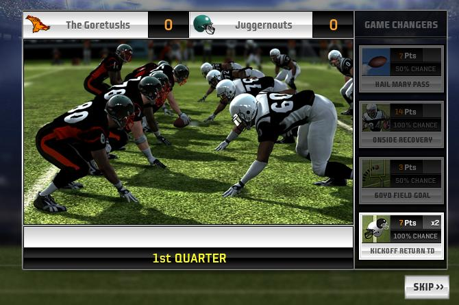More gameplay from Madden NFL Superstars.