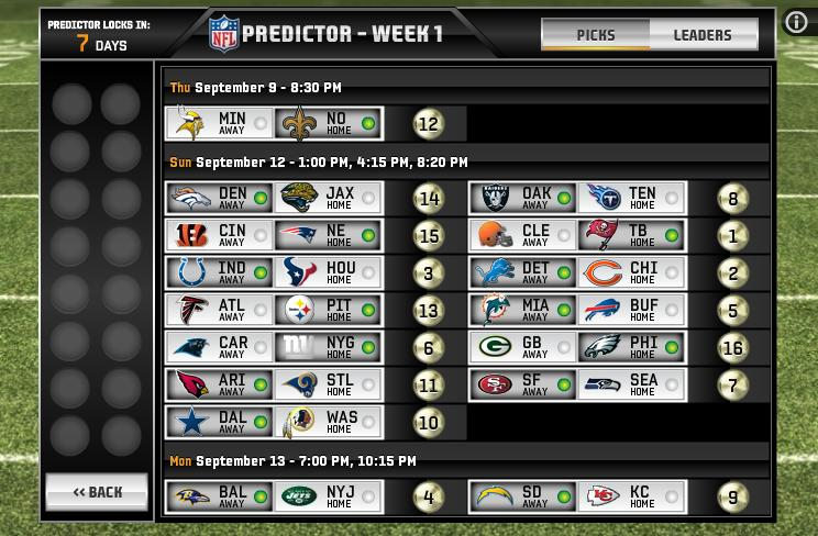 Predictor mode within Madden NFL Superstars.