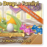 PetVille Enchanted Kingdom: The Dragon Family joins their father in cheery captivity