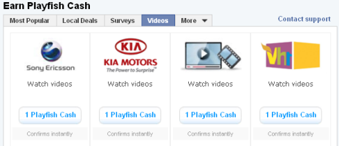 Free Playfish Cash from Kia Motors, Sony Ericsson, and VH1