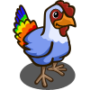 farmville rainbow chicken