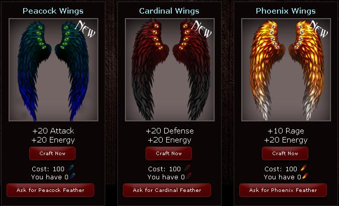 Vampire Wars Feather Wings Sets