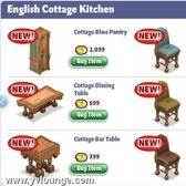 YoVille English Cottage Kitchen furniture arrives in furniture store