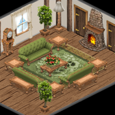 YoVille: English Cottage living room and outdoor items