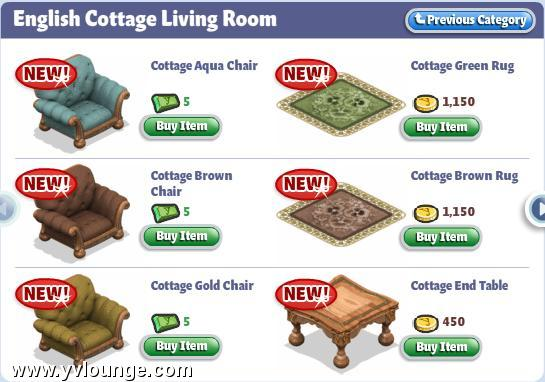 Room Items in English Room Items Yoville English