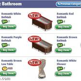 YoVille Romantic Bathroom items in the furniture store