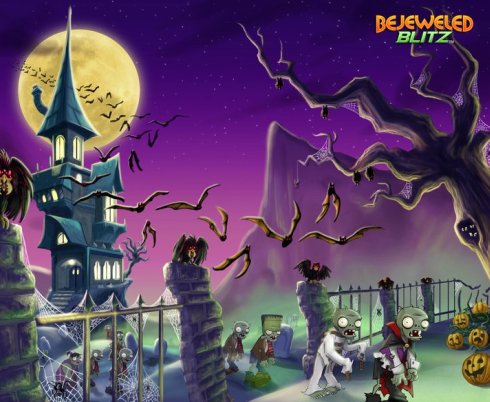 Bejeweled Blitz Halloween Wallpaper: Zombie Squad