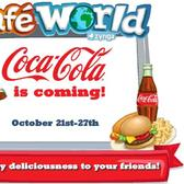 Cafe World and Coca-Cola: Free caffeine for all through Oct. 27