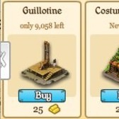City of Wonder Halloween: Add a Costume Shop and Guillotine to your town before it's too late