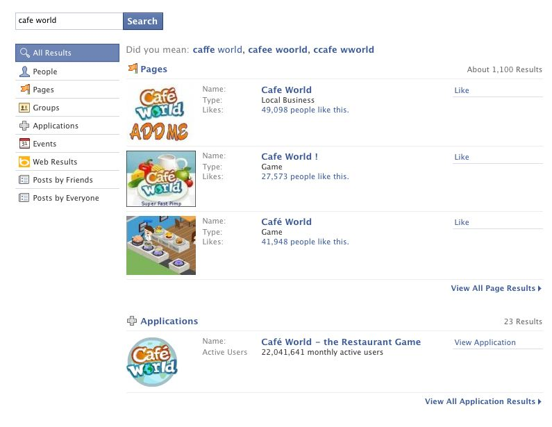 facebook game finder powered by games.com