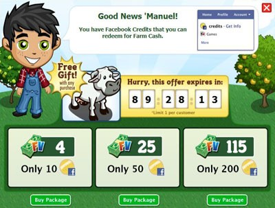FarmVille Free Tuscan Cow Gift