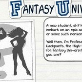 Fantasy University on Facebook: Filled with pop culture and