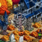 FarmVille Halloween Spooky Effect: Cover FarmVille with cobwebs and more