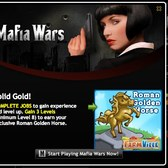FarmVille Golden Horse Statue available through Mafia Wars Italy