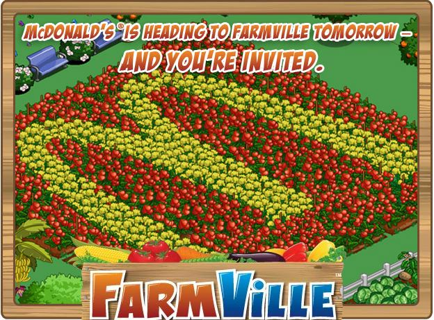 farmville mcdonalds promotion