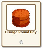 farmville orange round haay