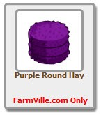 farmville purple round hay