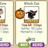 FarmVille Halloween Animals: Robot Cow & Witch Cat