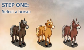 FarmVille Secretariat: Select a horse