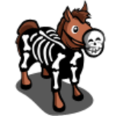 FarmVille Skeleton Horse gets dressed up for Halloween
