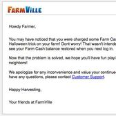 FarmVille glitch charges Farm Cash for Halloween tricks