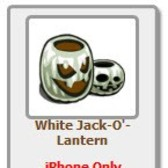 FarmVille Giftable Gravestone & White Jack-O'-Lantern (iPhone only)
