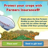 FarmVille gets the Farmers Insurance blimp to protect your crops, win a ride on it