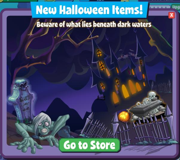 Fishville halloween items turn your tank into a zombie for Halloween fish tank decorations