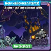 FishVille Halloween Items: Turn your tank into a zombie-filled cemetery