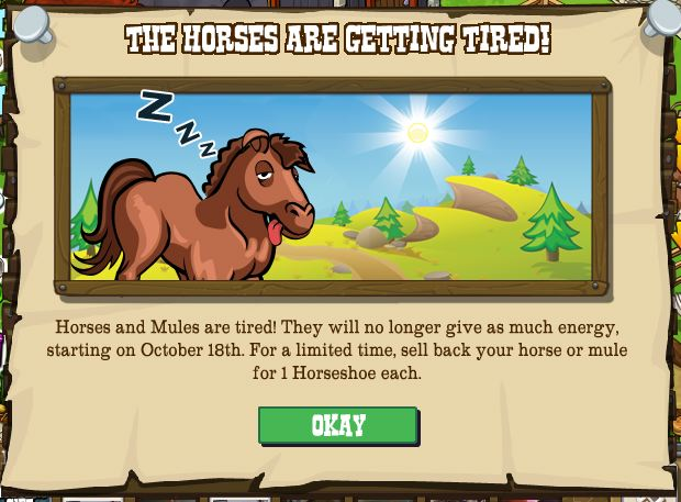 Horses and Mules are tired