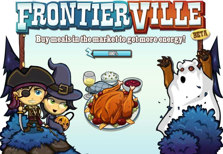 FrontierVille Halloween Loading Screen