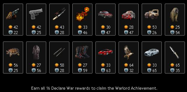 Declare Wars Reward