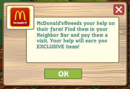 farmville mcdonalds is here