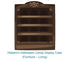 pet society halloween hideeni candy display case