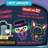Pet Society's Halloween Mystery Boxes hide five new costumes inside