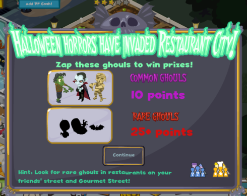 Restaurant City Halloween Horrors Unleashed