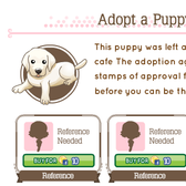 Get references to adopt a precious puppy in Cafe Life