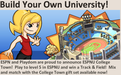 Social City: Reach Level 5 in ESPNU College Town for a free Track and
