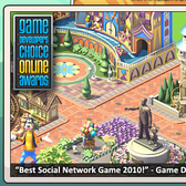 Social City celebrates GDC Best Social Game Award with 10 free City Bucks for fans