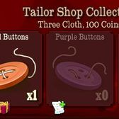 FrontierVille Tailor Shop Collection: Gather every button for extra cloth and coin