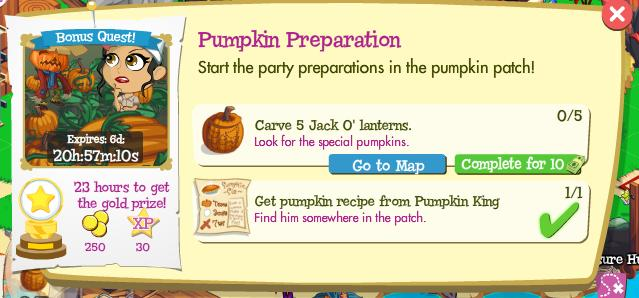 Pumpkin Preparation