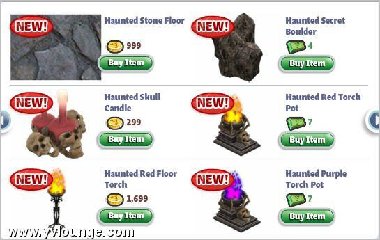 yoville halloween 2010 items