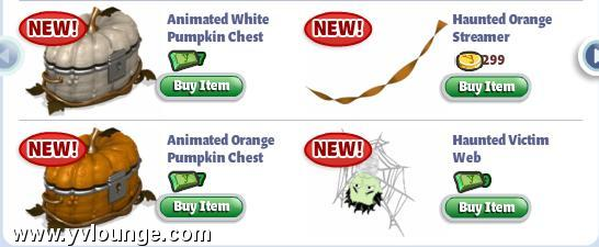 yoville halloween items