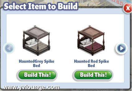 yoville haunted bed halloween