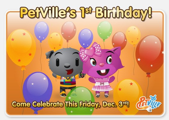 PetVille First Birthday