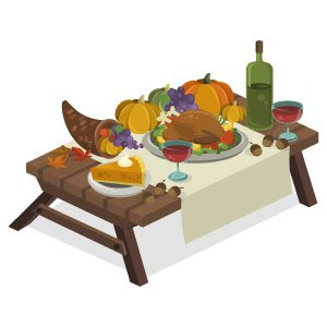Fashion World Thanksgiving Table
