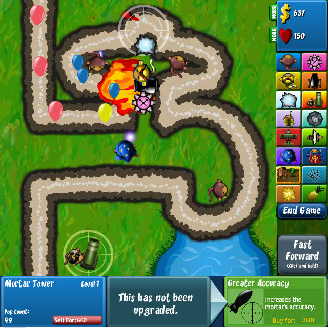 free online bloons tower defense games