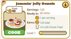 cafe world jammin' jelly donuts