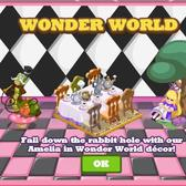 Cafe World's Wonder World Theme throws you deep into the rabbit hole