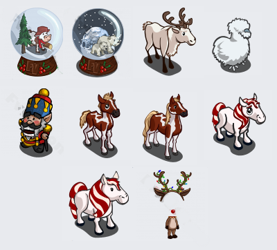 FarmVille unreleased Christmas items